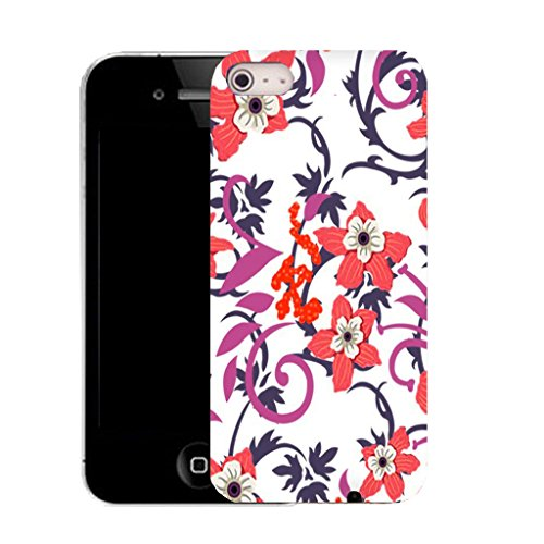 Mobile Case Mate IPhone 4s clip on Silicone Coque couverture case cover Pare-chocs + STYLET - beau flower pattern (SILICON)