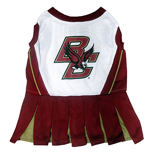 NCAA Boston College Eagles Dog Cheerleader Outfit, Small