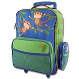 Stephen Joseph Monkey Rolling Luggage, Blue, One Size