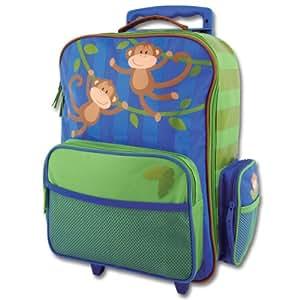 Stephen Joseph Classic Rolling Luggage, Monkey