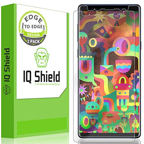 IQ Shield Screen Protector Compatible with Galaxy Note 9 (2-Pack)(Max Coverage) LiquidSkin Anti-Bubble Clear Film (Iq Shield Note Edge)