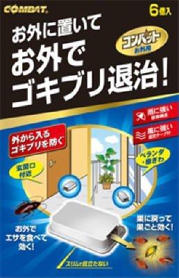KINCHO コンバット ゴキブリ殺虫剤 屋外用 6個入 × 20個 B073F4LBN2  6個入 × 20個