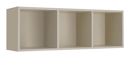 Giessegi Job 9336, Libreria Orizzontale Appesa a Muro, Legno, Visone,  31.6x120x40 cm