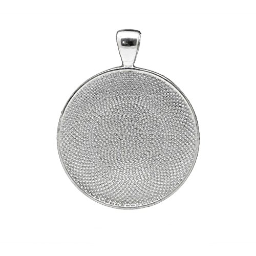 Housweety 5 Pendentifs Rond pr Camee Argente 4.1x3.3cm