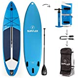 Supflex Inflatable CROSSOVER model10'2''x31''x6'' the most complete board on the market - Board, Pump, Paddle, Bag, Repair Kit, GoPro Mount & Leash