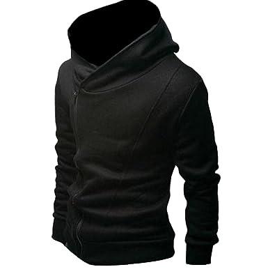 CrazyDay Mens Comfy Casual Solid Plus Velvet Sweatshirt Hoodies Jacket