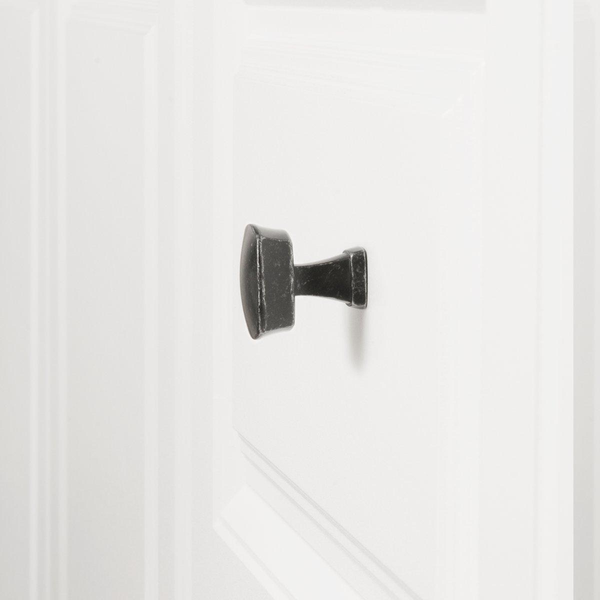 Pomo de armario redondo y cuadrado Paquete de 10 Basics Negro liso 3,2 cm de di/ámetro