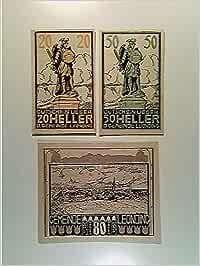 Notgeld Gemeinde Leonding, 20/50 und 80 Heller, 1920