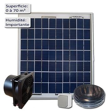 Kit De Ventilation Solaire 10W 12V   VMC   Extracteur 160m3/h
