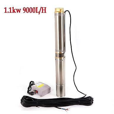 ROMYIX Pompe submersible de pompe de puits profond de la pompe 1100W 4000L H 2850Rpm 220V 50Hz