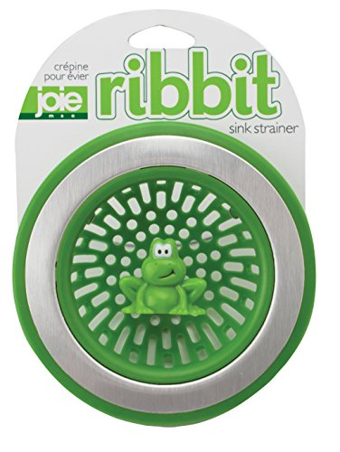 MSC Interntational 10029 Joie Ribbit Kitchen Sink Strainer Basket, Frog, 4.5-inch, Green