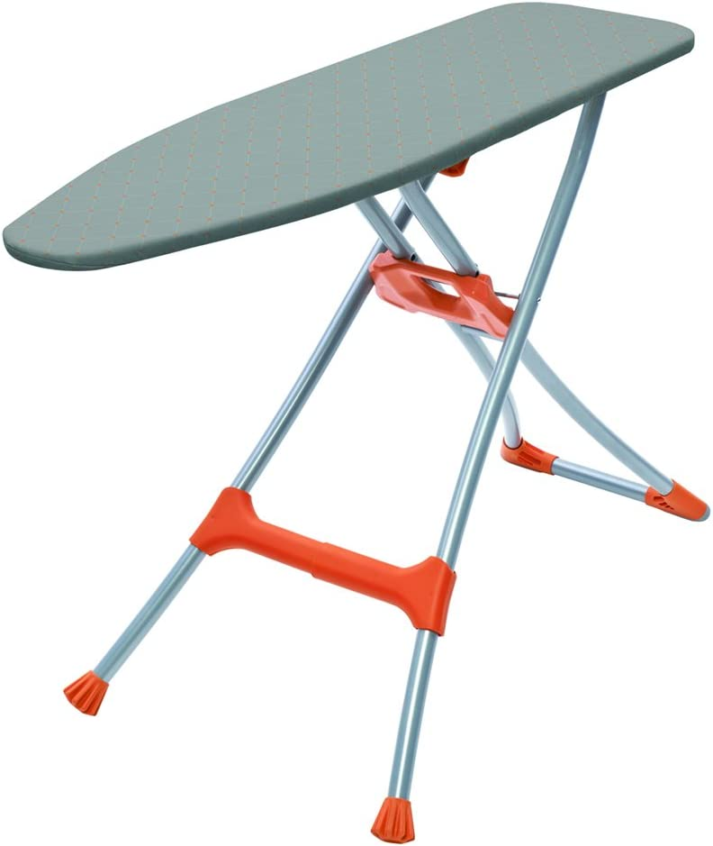 HOMZ Durabilt Premium Steel Mesh Top Ironing Board, Orange
