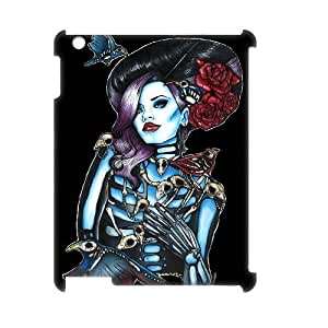 TOSOUL Sugar Skull Pattern 3D Case for iPad 2,3,4