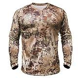 Kryptek Hyperion LS Crew - Long Sleeve Camo Hunting & Fishing Shirt (K-Ore Collection), Highlander,...