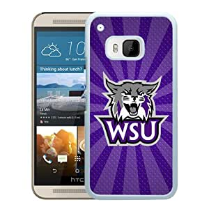 NCAA Weber State Wildcats 9 White HTC ONE M9 Protective Phone Cover Case