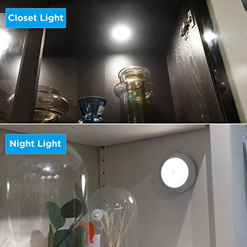 SOAIY Touch Light Battery Powered Ultra-Thin Touch Sensor LED Cabinet Lights, Magnet Stick-on Closet Light, LED Tap Night Lights for Kitchen, Bedroom, Stairs, Bar by SOAIY (Image #3)