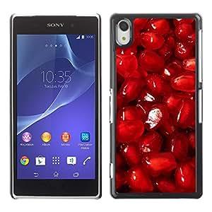 Be Good Phone Accessory // Dura Cáscara cubierta Protectora Caso Carcasa Funda de Protección para Sony Xperia Z2 D6502 D6503 D6543 L50t L50u // Red fruit