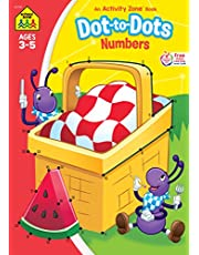 School Zone - Dot-to-Dots Numbers Workbook - Ages 3 to 5, Preschool to Kindergarten, Connect the Dots, Numerical Order, Coloring, and More (School Zone Activity Zone® Workbook Series)
