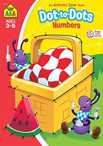 (School Zone - Dot-to-Dots Numbers Workbook - Ages 3 to 5, Numbers, Numerical Order, Sequencing, Fine Motor Skills, Illustrations, and More (School Zone Activity Zone® Workbook)