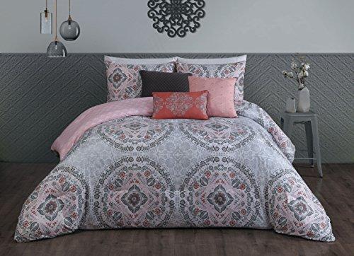 Steve Madden Positano 6-piece Comforter Set, King, Pink ()