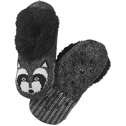 Calze Pantofola Pantofola Sfilata Donna Furry Da Critter Grigio Procione