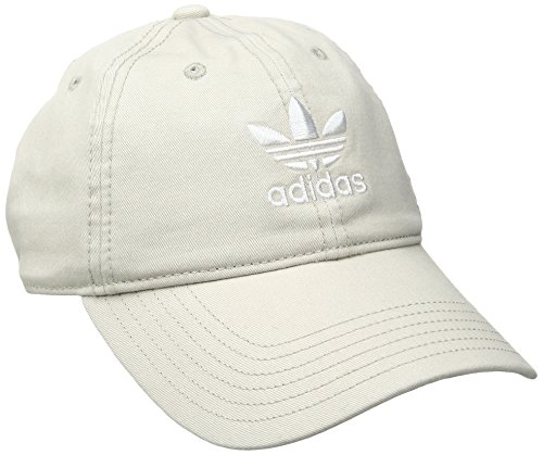 (adidas Women's Originals Relaxed Fit Strapback Cap, Khaki/White, One Size)