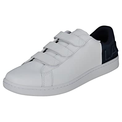 59da2f6362830 Lacoste Carnaby Evo Strap 318 1 Mens Trainers White Navy - 11 UK ...