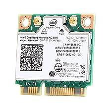 Intel Dual Band Wireless-ac 3160 3160hmw Half Mini Pci-e Bluetooth Bt Wireless Wifi Card 802.11 ac a B G N