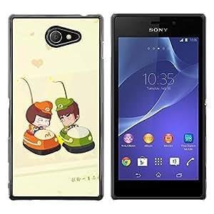 Be Good Phone Accessory // Dura Cáscara cubierta Protectora Caso Carcasa Funda de Protección para Sony Xperia M2 // Cute Bumper Couple