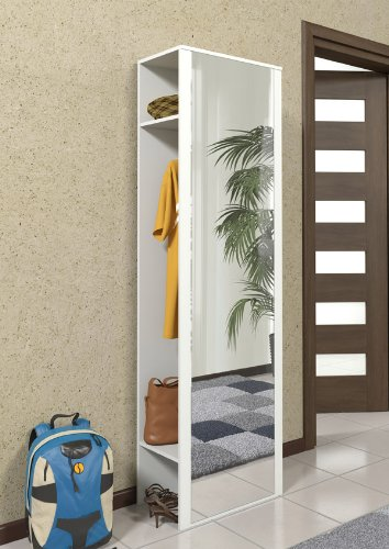 Top Garderobenset 215265 Wandgarderobe mit Spiegel weiss: Amazon.de VG03