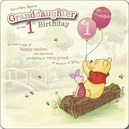 Amazon Granddaughter 1st Birthday Winnie The Pooh Disney