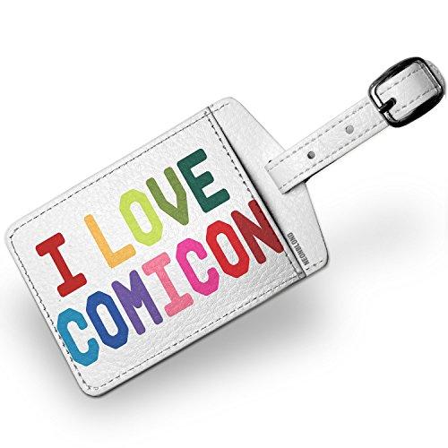 Amazon com | Luggage Tag I Love Comicon, Colorful - NEONBLOND