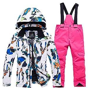 Amazon.com: Ybriefbag - Conjunto de ropa de esquí para niños ...