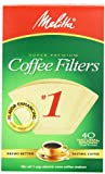Melitta Cone Coffee Filters, Natural Brown, No. 1, 40-Count Filters (Pack of 12)
