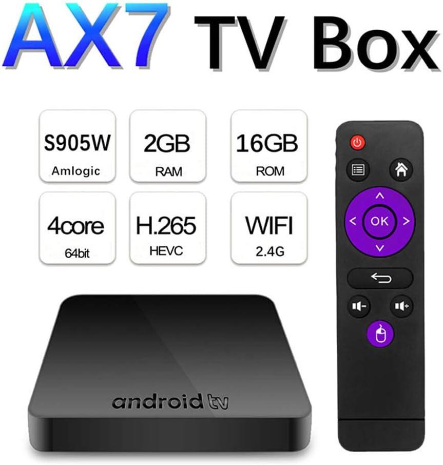 SUNMY Android TV Box 9.0 [2GB RAM + 16GB ROM], Amlogics905w Smart TV Box 64-bit Cortex-A53 Smart Box, 2.4G Dual Wi-Fi, 4K HD TV Box, USB 3.0 Media Player: Amazon.es: Electrónica