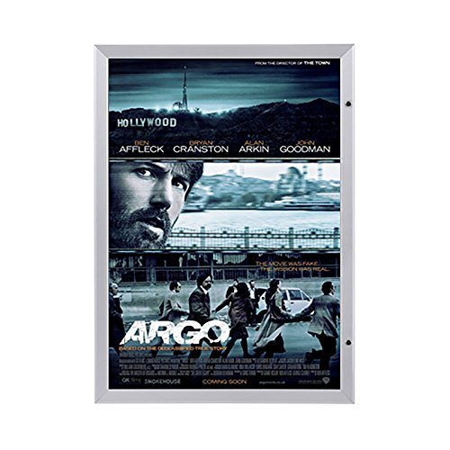 "SnapeZo Movie Poster Case 24x36 Inches, Silver 1.8"" Aluminum"