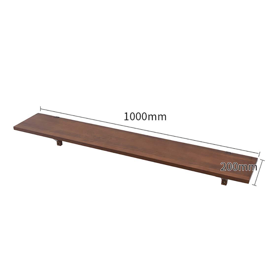 estante colgante montado en la pared de la exhibici/ón,equipado de los tornillos y de los tubos de expansi escuadras para estanteria soporte madera de estante flotante del bloque la madera del roble