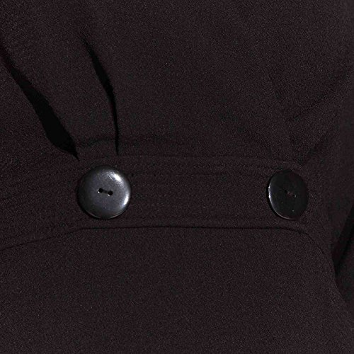 Größe 38 Mikrofaser Kleid KOOKAI Dress Unifarben Schwarz Damen Farbe Sq1UxP