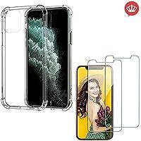 Capa Case Anti Shock Impactos iPhone 11 Pro Max + 2x Películas Vidro Temperado, Case-Friendly
