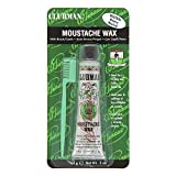 Clubman Moustache Wax with Brush Comb - Neutral 14g