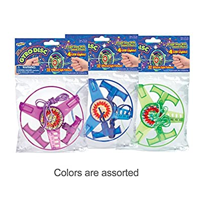 Geospace Super Sonic Gyro Disc with Sounds & Lights (Assorted Colors): Toys & Games