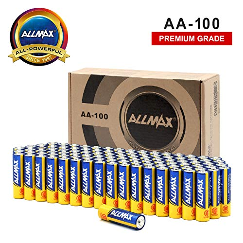 ALLMAX All-Powerful Alkaline Batteries-AA (100-Pack)-Premium Grade-Ultra Long Lasting and Leak-Proof, Powered by EnergyCircle