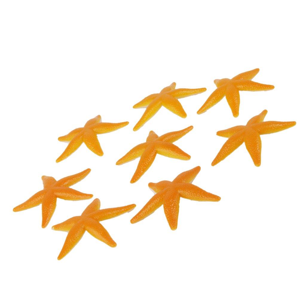 De Plastico De Juguete Modelo Ninos Estrellas De Mar De Color Amarillo Pvc 8pcs Generico GOMUKD849