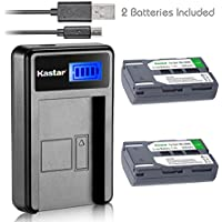 Kastar Battery (X2) & LCD Slim USB Charger for Samsung SB-LSM80 and SC-D351 VP-D351 VP-D351i VP-D352 VP-D352i VP-D353 VP-D353i VP-D354 VP-D354i VP-D647 VP-D651 VP-D653 VP-DC161 VP-DC161i DC163 DC163i
