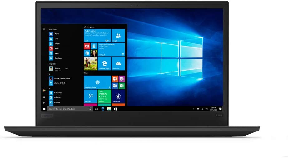 "Lenovo 15.6"" ThinkPad E585 LCD Notebook AMD Ryzen 3 2200U Dual-Core 2Ghz 4GB DDR4 SDRAM 500GB HDD Windows 10 Pro 64-bit (TN) Glossy Black Model 20KV000XUS"