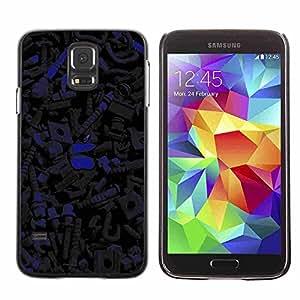 Shell-Star ( Dark Pattern ) Fundas Cover Cubre Hard Case Cover para Samsung Galaxy S5 V SM-G900