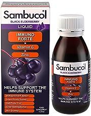 Sambucol Immuno Forte Black Elderberry Liquid with Vitamin C & Zinc, 120ml