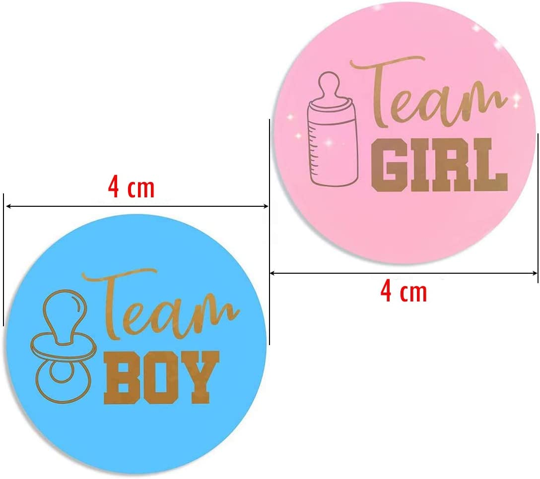 Gender Reveal Stickers 48 Pieces Gender Reveal Baby Stickers With Golden Glitter Letters Baby Shower Labels For Baby Shower Decorations Küche Haushalt