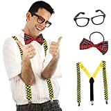 Tigerdoe Nerd Costume - 3 Piece Set - Geak Costume - Nerd Day Costume - School Costume - Nerd Costume Accessories