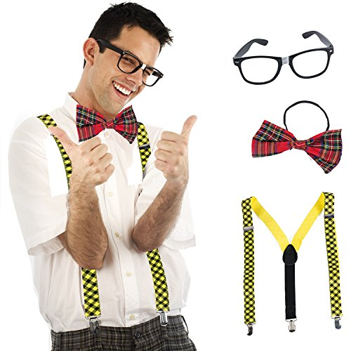 (Tigerdoe Nerd Costume - 3 Piece Set - Geak Costume - Nerd Day Costume - School Costume - Nerd Costume)